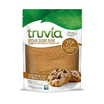 Truvia Brown Sugar Blend Mix of Natural Stevia Sweetener and Brown Sugar 18 oz Bag