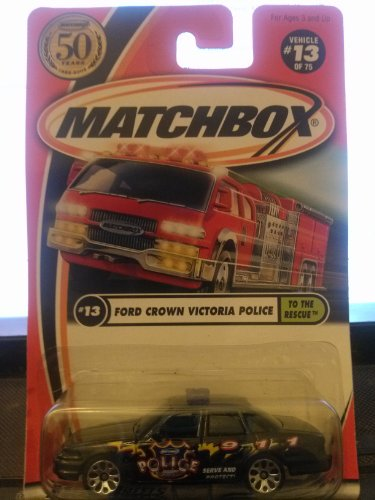 Matchbox Ford Crown Victoria Police To The Rescue 13/75 50th Year 2002