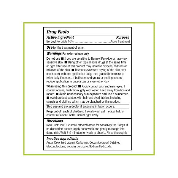 Acne treatment products Humane Maximum-Strength Acne Wash – 10% Benzoyl Peroxide Acne Treatment for
