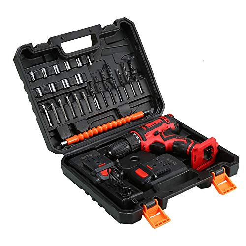 InLoveArts 20V Cordless Drill Driver Kit, 24 pcs Electric Screwdriver Set2 Batteries 1500mAh, Accessories Variable Speed & Built-in LED Power Drill for Drilling Wall, Brick, Wood, Metal
