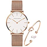 Women's Rose Gold Watch Analog...