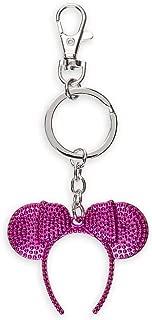 Disney Parks Minnie Mickey Mouse Deep Pink Color Headband Metal Keychain