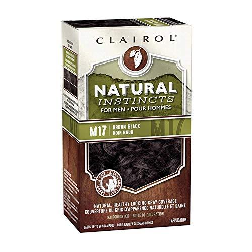 Clairol Natural Instincts Semi-Permanent Hair Dye Kit for Men, Brown Black, 3 Count