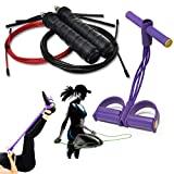 Home Workout Ropes or Therapy Trainer-Exercises Weight Loss Jump Rope+Resistance Physical,Stretching...