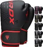 RDX Guantoni Boxe per Muay Thai e Allenamento, Maya Hide Pelle Kara Combattimento Guanti da Sacco per Sparring, Kickboxing, Sacchi Pugilato, Punzonatura, Boxing Gloves