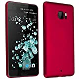 Cadorabo Funda para HTC U Ultra en Metal Rojo - Cubierta Protección de Plástico Duro Super Delgada e Inflexible con Antichoque - Case Cover Carcasa Protectora Ligera