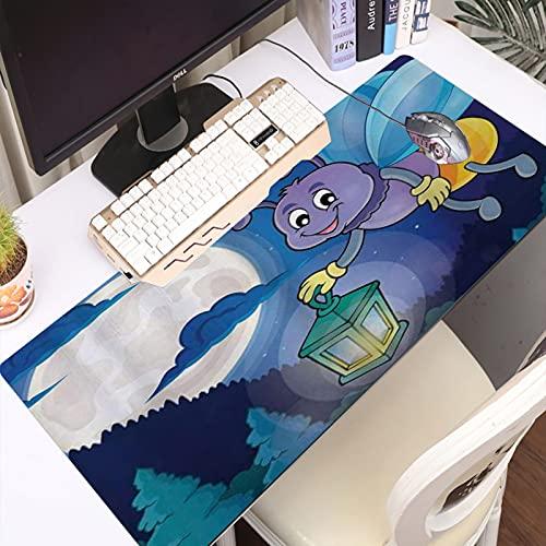 FAQIMEI Alfombrilla Gaming para PC Firefly Little Bug Volando con Linterna en el Cielo de Luna Llena Noche Infantil Infantil Máxima Precisión con Base de Caucho Natural, Máxima Comodidad
