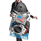 27'x 77' chales y abrigos calientes para mujeres Staffordshire Bull Terrier perro astronauta traje bufandas para mujeres chales y abrigos ligeros de moda elegante manta grande y cálida