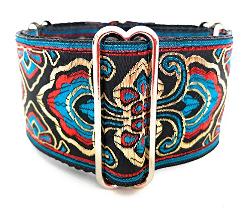 Wide Strap Martingale Collar For Greyhound