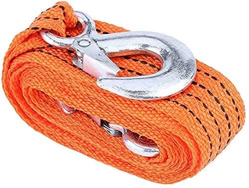 Cuerda para Remolcar 3,5T 4Metros/ Correa de Arrastre para Remolque/ Cable De Remolque De Acero para Remolques 4metros con Dos Ganchos a Ambos Extremos Resistencia De hasta 3,5Toneladas(4Metros)