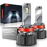 H11/H9/H8 LED Headlight, LAWTOOLIGHT 2-Pack LED Headlight Bulb, 15000 Lumens...