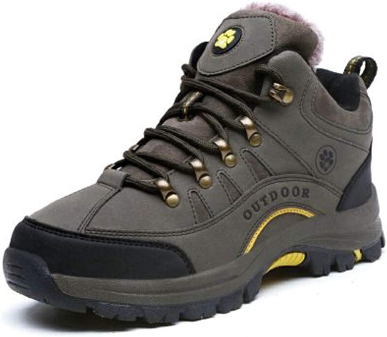 Womens Couple Plus Velvet Warm shoes Outdoor Sports Non-Slip Hiking shoes