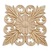 10 molduras de madera para tallar adornos de husos de flores, cesta tallada para carpintería de...