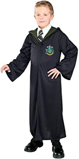 Harry Potter And The Deathly Hallows Costume, Child`s Robe With Slytherin Emblem Costume, Medium
