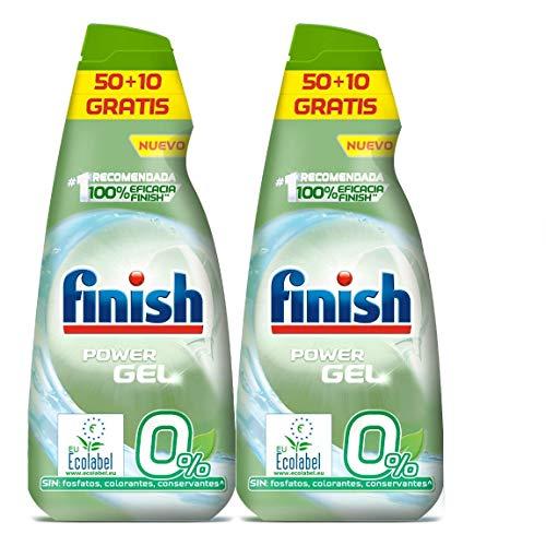 Finish Power Gel 0% afwasmiddel voor vaatwasser met ecologisch certificaat, 2 stuks - 120 dosering