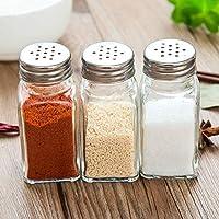 スパイスジャー キッチン用品は、ガラス香料ボトルは、バーベキュードレッシングボトルは、密閉された缶は、ペッパーボトルをスプレーします。 (Color : -)