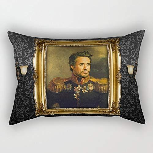 Yuanmeiju Robert Downey Jr. Replaceface Rectangular Pillowcase Cushion Cover 20x30 Inch