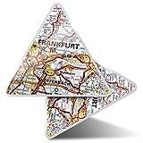 2 pegatinas triangulares de 7,5 cm – Frankfurt am Main Germany – Divertidas calcomanías para ordenadores portátiles, tabletas, equipaje, reserva de chatarra, nevera # 45064