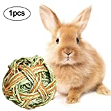 Kauspielzeug Grasball Für Kaninchen Kleintiere Kauen Spielzeug Ball Kaninchen Meerschweinchen Hamster Gras-Spiel-Ball Haustier Interaktive Spielzeug Für Kaninchen Katzen Welpen Hamster Zähne Gesunde