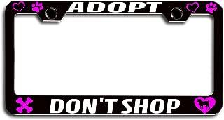 Lovable Petz - Adopt, Don't Shop Dogs Pets Bl Steel License Plate Frame, License Tag Holder