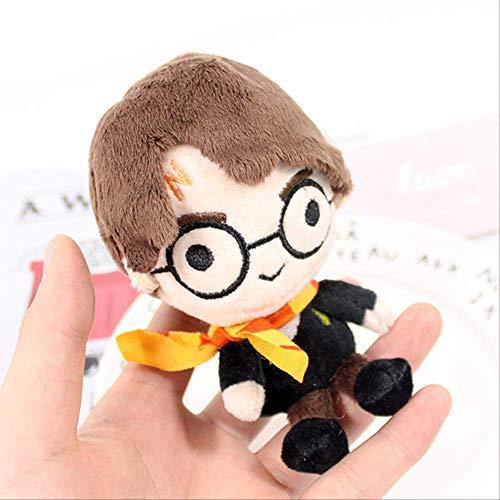 N\A Kawaii Style Hermione Ron Malfoy Dobby Hedwig Movie Puppet Plush Chain Toys para Niños Regalos De Cumpleaños 15cm jhtjt