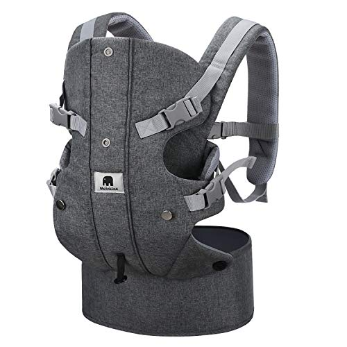 Newborn Baby Carrier Sling, Meinkind 2-in-1 Front Baby Carrier for Newborn to Toddler Baby Sling Carrier (3.5 to 15 kg), Grey