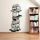 Lesebuch Vinyl Wandtattoo Bibliothek Schule Dekoration