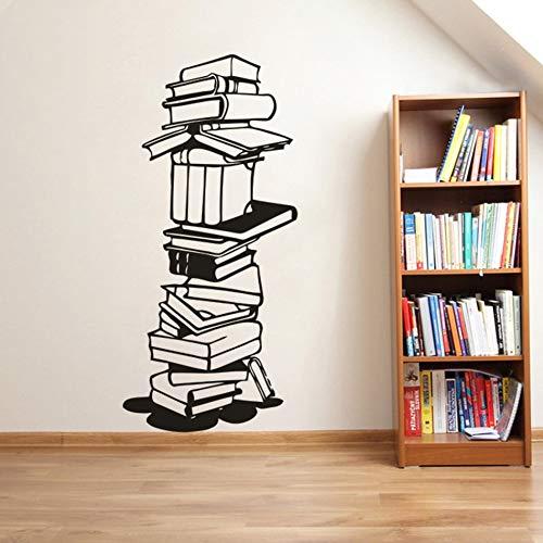 Libro de lectura vinilo pared calcomanía biblioteca escuela decoración vinilo libro gable pegatina librería ventana vinilo cartel decoración del hogar pared pegatina A3 42x91cm
