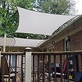 Amazon Brand - Umi. Toldo Vela Rectangular De Tejido Impermeable con Protección UV Y Cuerdas para Instalación En Patios, Azoteas Y Jardines, 2 x 3 m- Gris