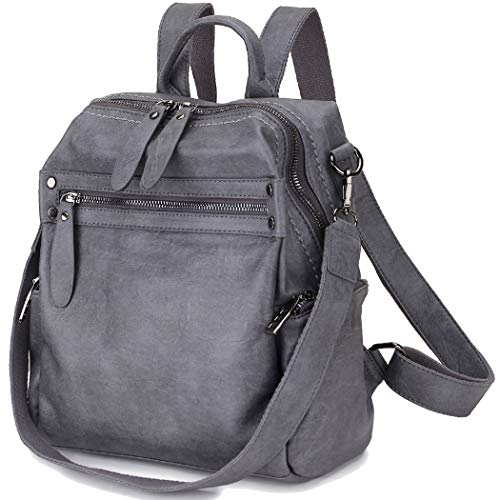 Women Backpack Purse, PU Leather Fashion Convertible Backpack Shoulder Bag Ladies Rucksack In 2 Ways To Carry VONXURY