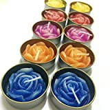10 Pcs Set Mini Thai Aroma Candle Floating Flower Rose Small Spa Handcraft Craved Home Garden Interia Decor
