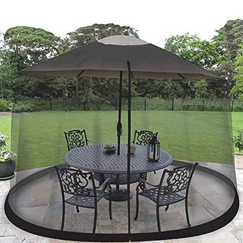 outdoor Outdoor Garden Mosquito Cover, Patio Umbrella Cover Mosquito Netting Screen for Patio Table Umbrella, Garden Deck Furniture Zippered Mesh Enclosure for Parasol O A Gazebo 300Cm*230Cm