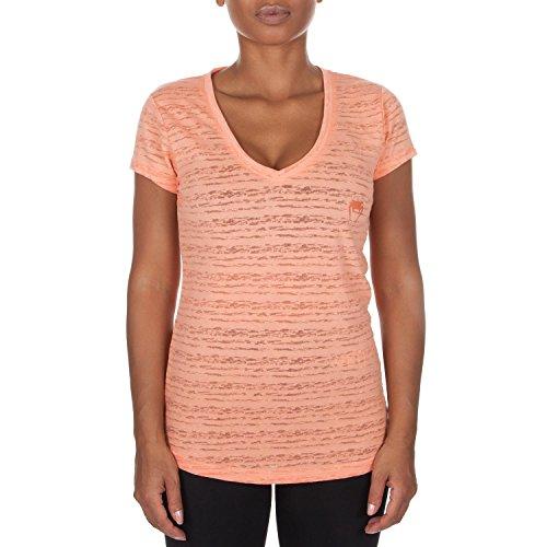 Venum Damen T- Shirt V Ansatz Essential, Aprikose, XS, VENUM-02747-038-XS