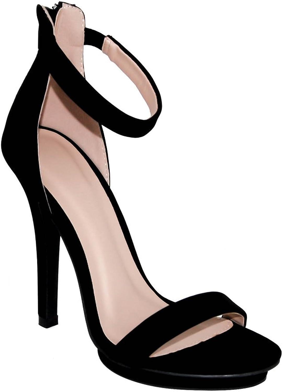 Wild Diva Women's High Heel Sandals Open Toe Ankle Strap Amy-01
