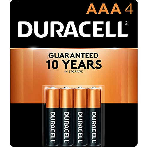 Duracell - CopperTop AAA Alkaline Batteries - long lasting, all-purpose Double A battery for household and business - 4 Count