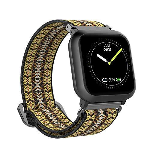 BIGCHINAMALL Relojes Inteligentes Mujer Smartwatch (Amarilla Bohemia)