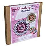 Arenart | Pack 2 Mandalas 38x38cm | para Pintar con Arenas de Colores | Manualidades para Adultos y Jóvenes | Dibujo Fácil | Pintar por números | +9 años