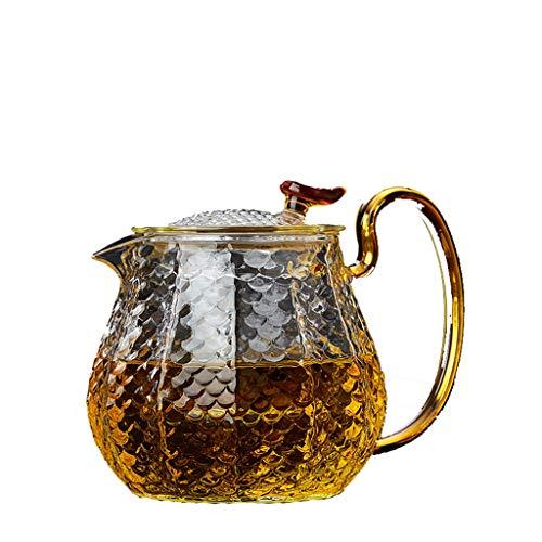 SSRS Teiera di Vetro ad Alta Temperatura della Bolla di Vetro della teiera del Retro Martello d'Annata del tè del Filtro Domestico (Color : A)