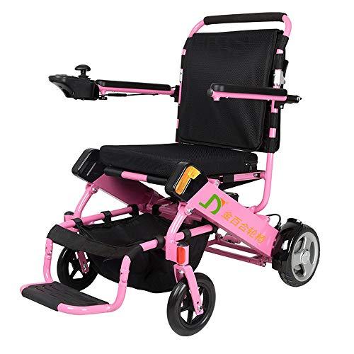 Opvouwbare elektrische rolstoel, opvouwbaar, lichtgewicht aluminiumlegering, lithium-batterij-intelligende, ongeschikte rolstoelauto (180 W x 2) voor gehandicapte ouderen.