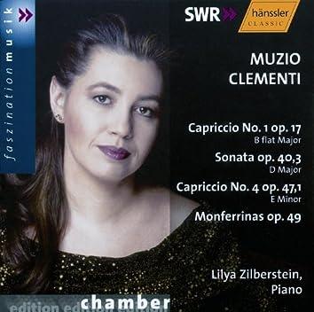 Clementi: Capriccio No. 1, Op. 17 / Piano Sonata Op. 40/3 / Capriccio No. 4, Op. 47/1