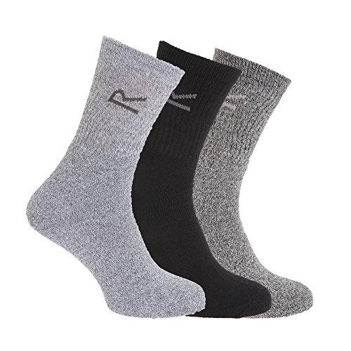 Regatta Herren 3 Socken/Box warme lange Knöchelbandage Socken Einheitsgröße grau