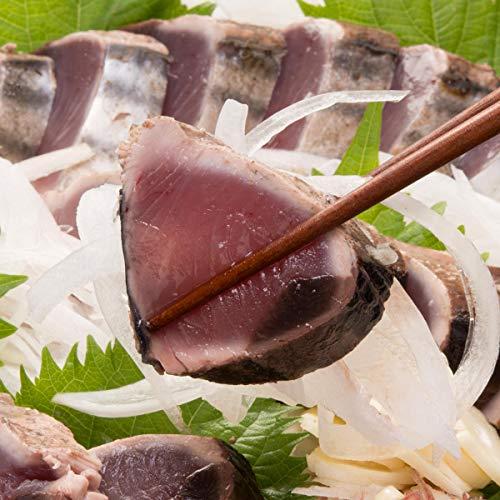 高知沖 一本釣り ( 鰹のたたき ) 1尾分4節 職人藁焼き レシピ 海人の藻塩 職人のポン酢 付き 宇和海の幸問屋