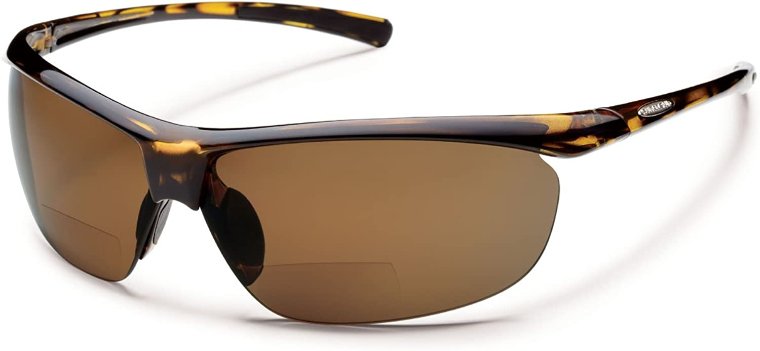 Suncloud Zephyr Reader Polarized Sunglasses Tortoise Brown Polarized +2.50