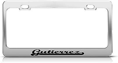 AdriK Gutierrez Last Name Ancestry Metal Chrome Tag Holder License Plate Frame