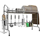 Over the Sink Dish Drying Rack, MNOPQ Premium 201 Stainless Steel...