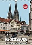 Regensburg - Ansichtssache (Wandkalender 2019 DIN A4 hoch): 12 interessante Ansichten von Regensburg (Geburtstagskalender, 14 Seiten ) (CALVENDO Orte) - Thomas Bartruff