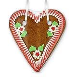 Lebkuchenherz Rohling 20cm mit Rand & Deko - rot-weiß | Selbstbeschriften mit eigenem Spruch Wunschtext L Liebesbeweis Valentinstag Geschenke selber machen gestalten DIY von LEBKUCHEN WELT