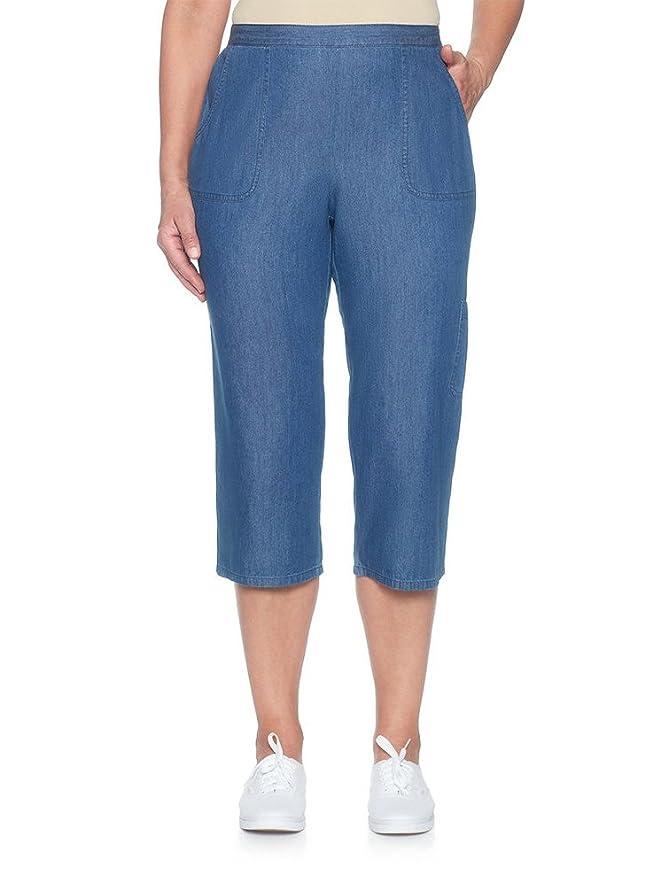 Alfred Dunner Petites' Denim Cropped Pants