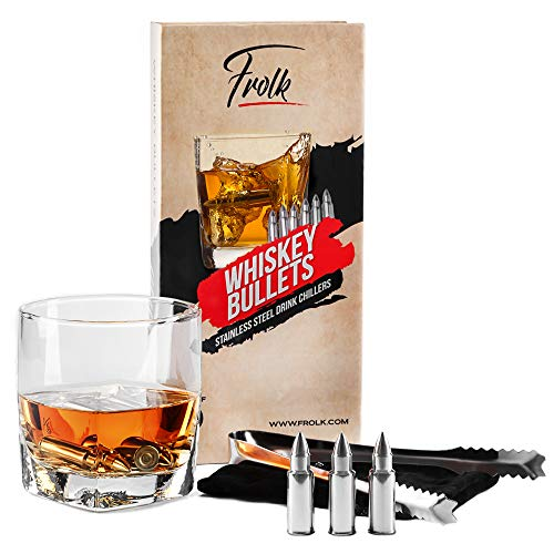 Product Image 8: Stainless Steel Bullet Shaped Whiskey Stones Set of 6 – Chilling Rocks – Ice Stones With Tongs And Freezer Pouch, Gift Idea for Whiskey Lovers