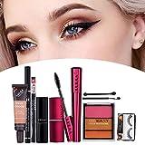 Juego de maquillaje de 9 piezas Corrector impermeable Sombra de ojos Lápiz labial Combinación Lápiz labial natural Sombra de ojos Conjunto completo de cosméticos